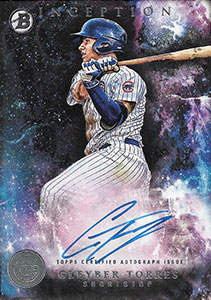 Gleyber Torres Autograph on a 2016 Bowman Inception Baseball Card (#PA-GT)