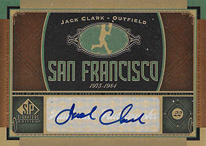 Jack 'The Ripper' Clark Autograph on a 2012 Upper Deck SP Baseball Card (#7)
