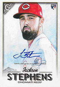 Jackson Stephens Autograph on a 2018 Topps Gallery Baseball Card (#22)