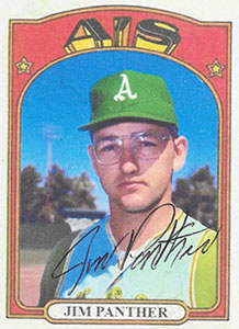 Jim Panther Autograph on a 1972 ACEO Baseball Card