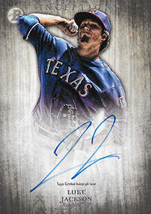 Luke Jackson Autograph on a 2014 Bowman Inception Baseball Card (#PA-LJ)