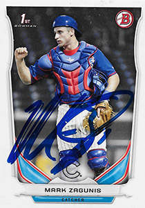 Mark Zagunis Autograph on a 2014 Topps Baseball Card (#DP92)