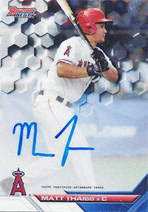 Matt Thaiss Autograph on a 2016 Bowman's Best Baseball Card (#B16-MTH)