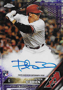 Peter O'Brien Autograph on a 2016 Topps Chrome Baseball Card (#RA-PO)