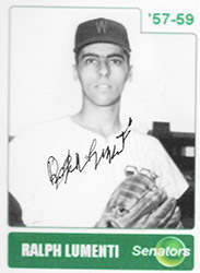 Ralph Lumenti Autograph on a Self-Made Custom Baseball Card