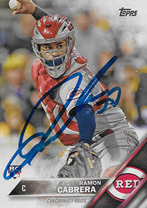 Ramon Cabrera Autograph on a 2018 Topps Baseball Card (#632)