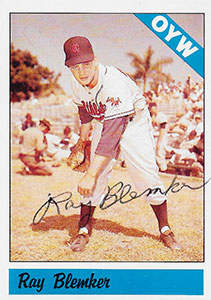 Ray Blemker Autograph on a 1983 One-Year Winners Baseball Card (#112)