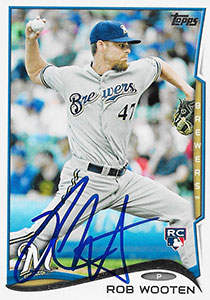 Rob Wooten Autograph on a 2014 Topps Baseball Card (#494)