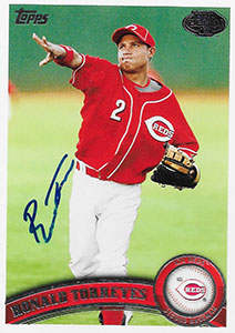 Ronald Torreyes Autograph on a 2011 Topps Pro Debut Baseball Card (#225)