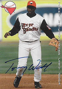 Tommy Watkins Autograph on a 2001 Grandstand Baseball Card (#1)