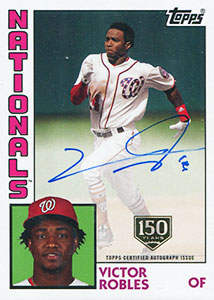 Victor Robles Autograph on a 2019 Topps Series 2 Baseball Card (#84A-VR)