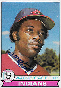 Wayne Cage Autograph on a 1979 Topps Baseball Card (#150)