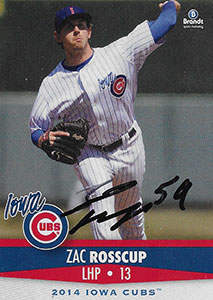 Zac Rosscup Autograph on a 2014 Brandt Baseball Card (#27)