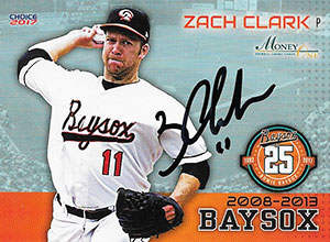 Zach Clark Autograph on a 2017 Choice Baseball Card (#25)