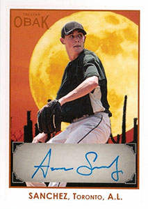 Aaron Sanchez Autograph on a 2011 Tri-Star OBAK (#A36)