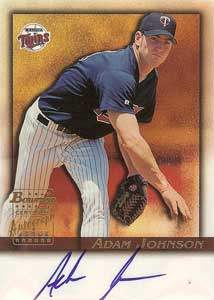 Adam Johnson Autograph on a 2001 Bowman (#BA-AJ)