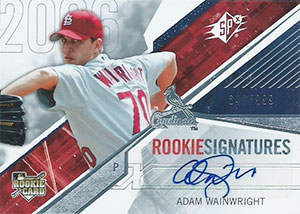 Adam Wainwright Autograph on a 2006 Upper Deck SPx Rookie Signatures (#146)