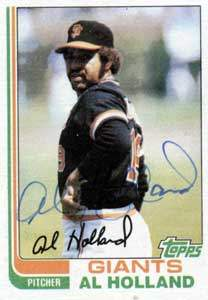 Al Holland Autograph on a 1982 Topps (#406)