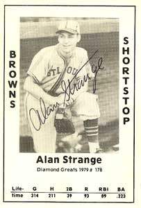Alan Strange Autograph on a 1979 Diamond Greats (#178)