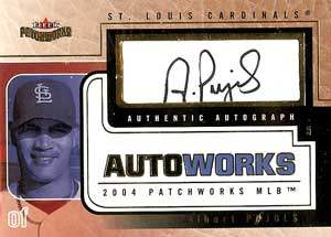 Albert Pujols Autograph on a 2004 Fleer Patchworks (#AW-AP2)