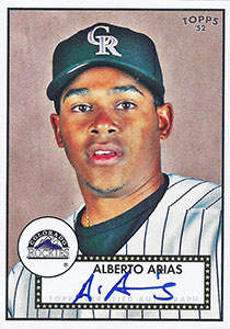 Alberto Arias Autograph on a 2007 Topps (#52S-AA)