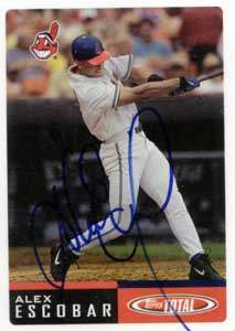 Alex Escobar Autograph on a 2002 Topps (#53)