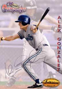 Alex Gonzalez Autograph on a 1994 Ted Williams (#121)