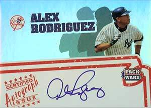 Alex Rodiguez Autograph on a 2005 Topps Pack Wars (#PWA-AR)