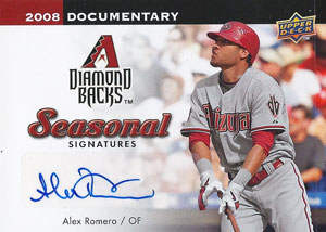 Alex Romero Autograph on a 2008 Upper Deck Documentary (#AR)