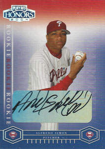 Alfredo Simon Autograph on a 2004 Playoff Honors (#228)