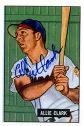 Allie Clark Autograph on a 1951 Picture Card Reprint (#29)