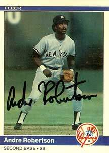 Andre Robertson Autograph on a 1984 Fleer (#140)