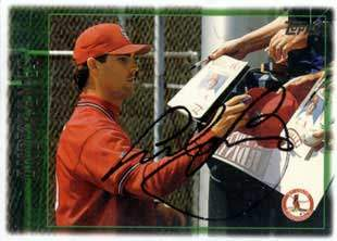 Andy Benes Autograph on a 1997 Topps (#190)