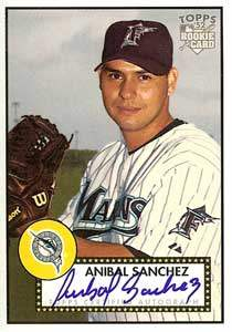 Anibal Sanchez Autograph on a 2006 Topps Heritage (#52S-AS)