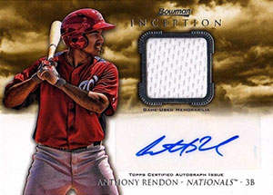 Anthony Rendon Autograph on a 2013 Bowman Inception Baseball Card