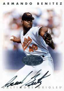 Armando Benitez Autograph on a 1996 Leaf Signature Series (Silver)