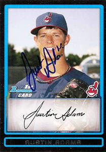 Austin Adams Autograph on a 2009 Bowman (#BDPP36)