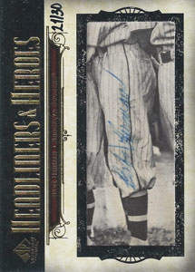 Babe Herman Autograph on a 2008 Upper Deck Legendary Cuts (#HH-BH2)