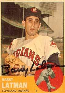 Barry 'Shoulders' Latman Autograph on a 1963 Topps Baseball Card (#426 | <a href='../baseball_cards/baseball_cards_oneset.php?s=1963top01' title='1963 Topps Baseball Card Checklist'>Checklist</a>)