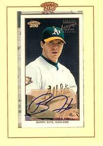 Barry Zito Autograph on a 2002 Topps (#TA-BZ)