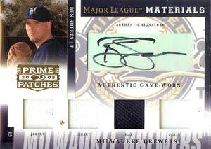 Ben Sheets Autograph on a 2005 Donruss (#MLM-8)