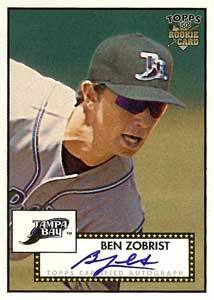 Ben Zobrist Autograph on a 2006 Topps Heritage (#52S-BZ)