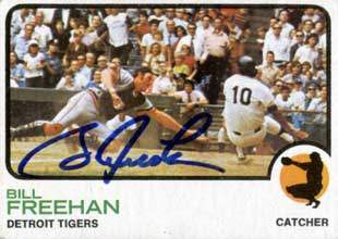 Bill Freehan Autograph on a 1973 Topps Baseball Card (#460)