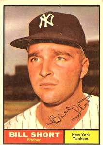 Bill Short Autograph on a 1961 Topps Baseball Card (#252 | <a href='../baseball_cards/baseball_cards_oneset.php?s=1961top01' title='1961 Topps Baseball Card Checklist'>Checklist</a>)