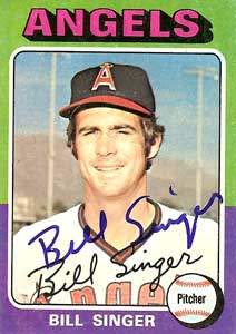 Bill Singer Autograph on a 1975 Topps Baseball Card (#40 | <a href='../baseball_cards/baseball_cards_oneset.php?s=1975top01' title='1975 Topps Baseball Card Checklist'>Checklist</a>)