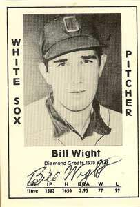Bill Wight Autograph on a 1979 Diamond Greats (#143)