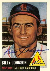 Billy Johnson Autograph on a 1991 Topps Archives Baseball Card (#21 | <a href='../baseball_cards/baseball_cards_oneset.php?s=1991top05' title='1991 Topps Archives Baseball Card Checklist'>Checklist</a>)