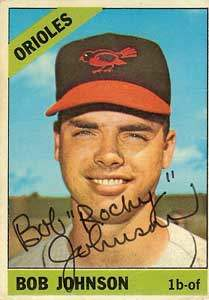Bob Johnson Autograph on a 1966 Topps Baseball Card (#148 | <a href='../baseball_cards/baseball_cards_oneset.php?s=1966top01' title='1966 Topps Baseball Card Checklist'>Checklist</a>)