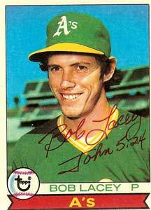 Bob Lacey Autograph on a 1979 Topps (#647)