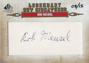 Bob Meusel Autograph on a 2011 Upper Deck SP Legendary Cuts (#17)